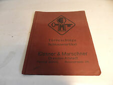 ancien catalogue Ferrures de porte Articles de serrurerie Elssner & Marschner