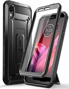 For Motorola Moto E6, Original SUPCASE Full Case w/ Holster Kickstand Screen US