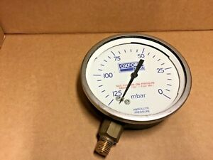 "Oxford Lasers 4"" 40mm Face Low Vacuum Absolute Pressure Gauge 125-0 mbar"