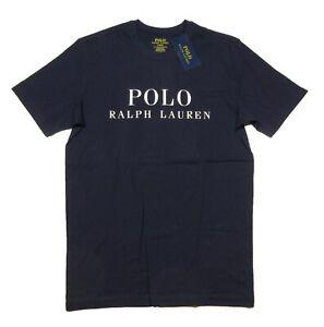 Polo Ralph Lauren Men's Navy Logo Graphic Print Crew-Neck Sleep T-Shirt