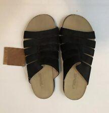 Teva Women  Cork Slide 6390 suede Black Leather casual wedge sporty Size 6