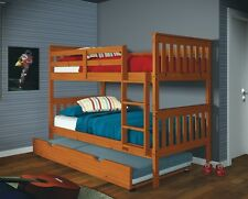 Twin over Twin Bunkbeds with Trundle