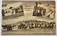 Northern San Diego CA Casa Manor Postcard Motel In Old Town
