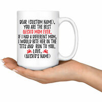 Personalized Gecko Mom Gifts  Gecko Mom Mug  Gecko Owner  Gecko Gifts For Women