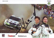 Autogramm, Sepp Wiegand - Skoda Fabia Super 2000 - FIA Rallye WM 2013 - 15x21cm