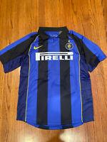 VTG 90s Nike INTER MILAN Ronaldo 9 Football Soccer Jersey Mens Large