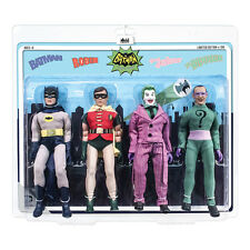 Batman 66 Classic TV Show Mego Style 8 Inch Figures Series 1 Four-Pack