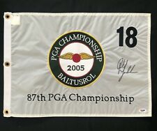 Phil Mickelson Signed 2005 PGA Championship Golf Flag W/COA from PSA