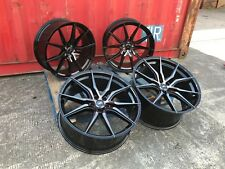 "18"" Alloy Wheels VW T4 T5 T6 Transporter Van 5x112 Black CADDY A3 850KG pearl"