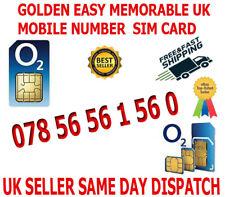 GOLDEN EASY MEMORABLE UK VIP MOBILE PHONE NUMBER 078 56 56 1 56 0 PLATINUM SIM