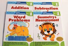 Kumon Math Workbooks Grade 1 Set (4 Books) -- Free Shipping!!!