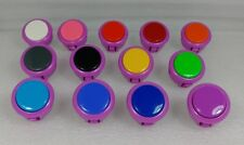 Japan Sanwa Mix Buttons Violet + Any of 13 pieces Video Game Arcade Parts S/F