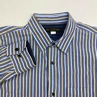 Banana Republic Button Up Shirt Men's Large Long Sleeve Striped Casual Cotton
