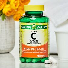 Spring Valley Vitamin C Tablets with Rose Hips, 1000 mg, 100 Count