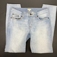 J Crew Womens Skinny Jeans Size 27 Regular Blue Ankle Slim Stretch Light Wash