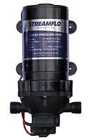 Streamflo Pump 12v 100psi 4.5Lpm 6Lpm 10mm Hose Tail not  Shurflo or flojet wfp