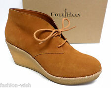 COLE HAAN Curry Yellow Suede Leather Size 8 Ankle Boots Booties