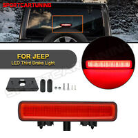 For 2018-up Jeep Wrangler JL Red Lens LED Rear 3rd Third Brake Light w/ Bracket