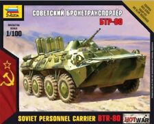 Zvezda 1/100 Soviet Personnel Carrier BTR-80 Model Kit # 7401 - Plastic Model Ki