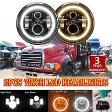 2pcs 7inch LED Headlight Headlamp Bulb Lamp Upgrade for Mack Granite Trucks V713