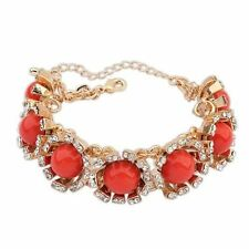 Orange Rhinestone Fashion Jewellery