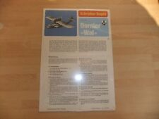 VINTAGE PAPER-CARDBOARD MODEL KIT 1-100 DORNIER WAL 1920 GERMAN FLYING BOAT
