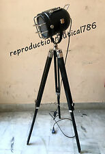 Modern Nautical Floor Lamp With Tripod Marine Studio Searchlight Vintage Decor
