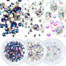 Glitter Mixed Sizes Crystals Flat Back Rhinestones Diamond Gems Nail Art  HOT