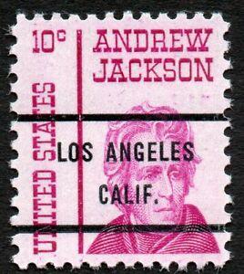 1286b 10¢ untagged Jackson Los Angeles precancel MNH