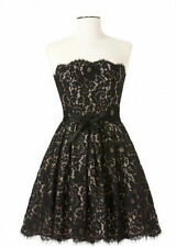 Neiman Marcus Robert Rodriguez Black Lace Strapless Party Dress Size 6 NWT $99