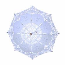 Lace Umbrellas for Wedding Party Pictures DIY Embroidery Rain Sun Parasol yui