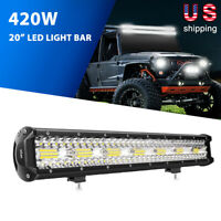 20 Inch 420W LED Work Light Bar Flood Spot Combo Driving Lamp Car Truck Offroad