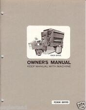 Farm Manual - Hesston - SP 55 - Cotton Harvester - Owner Manual - 1969 (FM246)