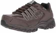 Skechers Work Mens Cankton brown leather steel toe shoes US 8.5 New