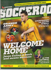 Programme / Programma Australia v Holland 10-10-2009 friendly