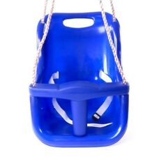 Baby Seat, Rebo Safety Swing Back Supporting Swing with Adjustable Ropes - Blue