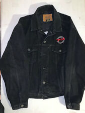 Vintage Titan Motorcycle Co. Black Denim Jacket Made In Canada - RARE!! Size L