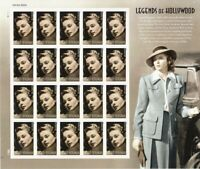 Ingrid Bergman Celebrity Sheet of 20 Forever Stamps Scott 5012