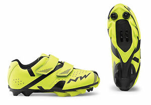 Northwave Hammer 2 Junior Bicycle Cycle Bike Shoes Fluo Yellow / Black