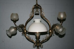 Ceiling Light.Large 7 Light Decorative Victorian Style Feature With Glass Shades