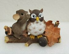 Charming Tails A Word To The Wise Mouse Whispering To Owl Fall Gift