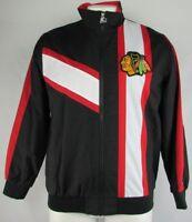 Chicago Blackhawks NHL Starter Men's Full Zip Windbreaker Jacket Black Red L