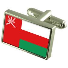 Oman Sterling Silver Flag Cufflinks