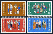 Thailand 600-603, MNH. Historical Thai Costumes, 1972