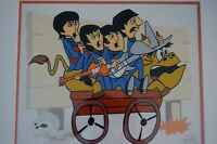 THE BEATLES BULLRIDE PICTURE ANIMATION LIMITED EDITION SERICEL COA FRAMED NEW