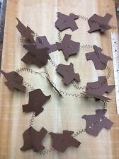 8' Texas Shape Garland Western Barn Cowboy Rust Rustic Tin Metal Decor