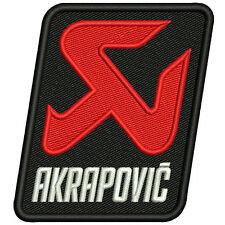 Biker Racing Fan aufnäher Akrapovic 6 x 8cm