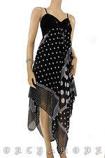Robe Asymétric Voile pois bijou Soirée FR T. UNIQUE = 38 40 42 44 46 NEUF Dress