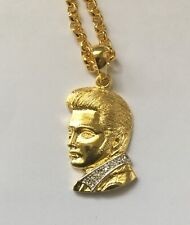 Elvis Presley profile pendant and chain