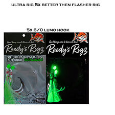 5x Snapper Rigs The Ultra Fishing Rig Uv Jap Made Hooks Flasher Rig Crusher